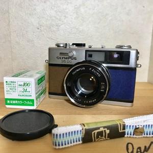リメイクカメラ OLYMPUS 35DC(ブラウン・ネイビーブルー)※前期型