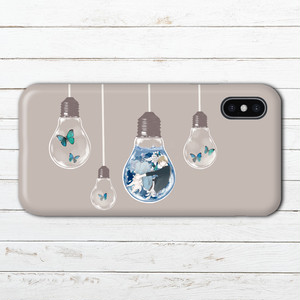 #089-023 iPhoneケース スマホケース おしゃれ 綺麗 イラスト iPhoneXS/X Xperia XZ3 ケース 個性的 GALAXY Google Pixel 3 AQUOS タイトル:Terrarium 作:7.7.4(ナナシ)