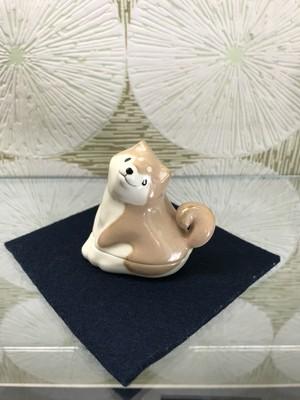 香合「柴犬」今岡三四郎・作