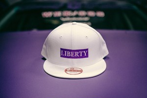 LIBERTY CAP NEWERA ホワイト×パープル