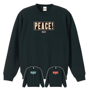PEACE! (SWEAT) ブラック (黒/青/赤プリント)