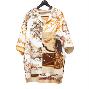Vintage Scarf Patchwork S/S Shirt / ベージュA