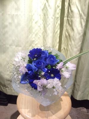 青バラのブーケ