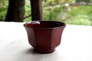 【完売御礼!】日本酒好きのための八角盃 朱塗