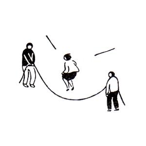 大縄跳び Long jump rope