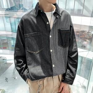 【FAST】ハーフストライプデニムシャツ #BL4638