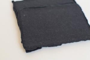 "Handmade paper 4.25""x6"" (10.7x15.2cm) 150gsm Matte Black 5枚入"