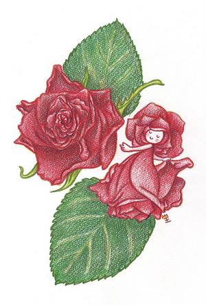 薔薇の精 ポストカード