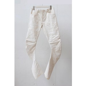 golem twisted coating pants /WHITE
