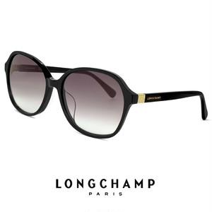 ロンシャン レディース サングラス lo680sj-001 longchamp ジャパンフィットモデル UVカット UV400 ブラック