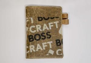 ダンボールで作ったA6判(文庫版)手帳カバー craftBOSS