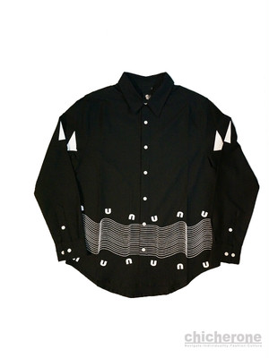 【UAUA】WELLE SHIRTS  BLACK