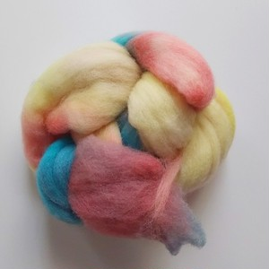 手染め羊毛 コリデール レインボー染0602  約30g