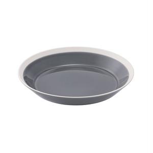 yumiko iihoshi porcelain(ユミコイイホシポーセリン)×木村硝子店 dishes 200 plate (fog gray) プレート 皿 20cm 日本製 255589