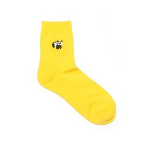 【made in Japan】materi くつした(ミズノマサミ)Panda toy(yellow) ショートパイルソックス