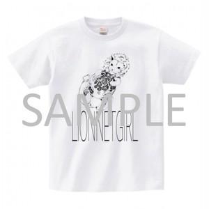 ライオンと月Tシャツ
