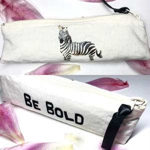 """細身ペンケース """"BE BOLD"""" Zebra"""