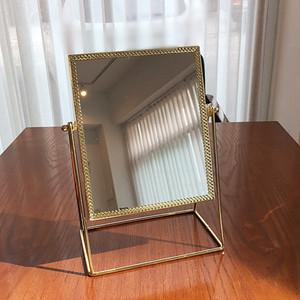 gold flame square mirror / ゴールドフレームスクエアミラー
