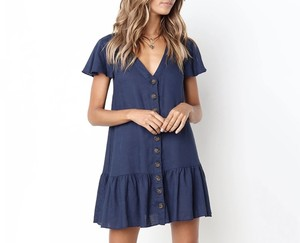 Button Frill One-piece
