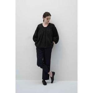 High twist linen Tuck blouse shirt /0001SH08
