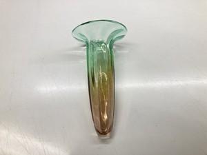 Vase Green 花器ガラス 18cm グリーン