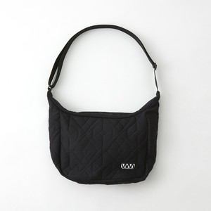 PARQUEST JACQUARD SHOULDER BAG - BLACK