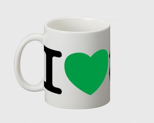 I Love 亀戸 マグカップ
