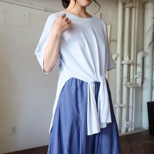 コットン裾絞り5分袖ニット【BB73-736】