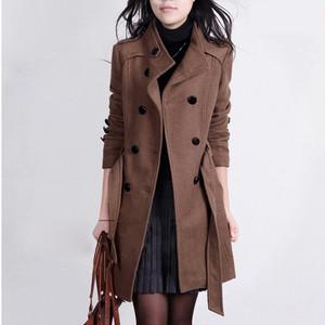【アウター】気質満点韓国系ファッション通勤シンプル折襟無地ベルト付きコート24311165