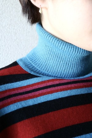 Vintage multistripe turtle neck sweater
