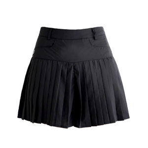 Pleats short pants (Black)