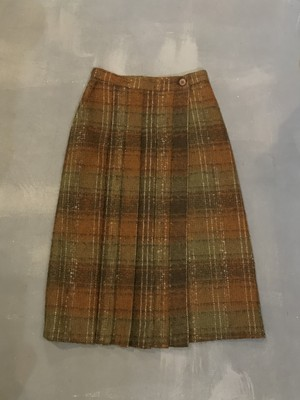Multiple Color Check Wrap Skirt  [G-1027]
