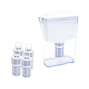 Welvina ピッチャー型浄水器+カートリッジ2箱(4個)