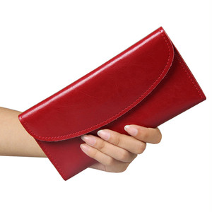 2016 100 % Genuine Leather Luxury Women Wallet Cowhide Famous  Brand Fashion Cover Female Purse Card Holder Vintage Solid  Hasp
