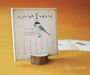 【50%OFF】野鳥図鑑風カレンダー2019