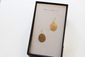 10bili 「ぺちゃんこなコイン ゴールド(ピアス・イヤリング)」
