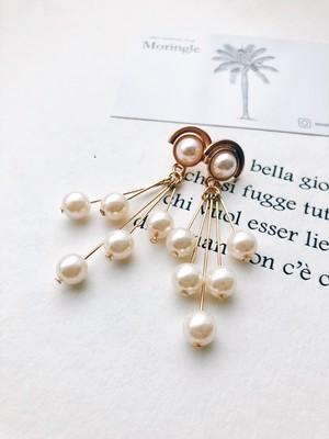 Fringe pearl pierce (フリンジパール ピアス)
