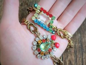 ヴィンテージビジューブレスレット vintage bracelet bijou <BLT-RB2>