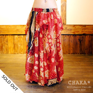 Ethnic skirt/Red