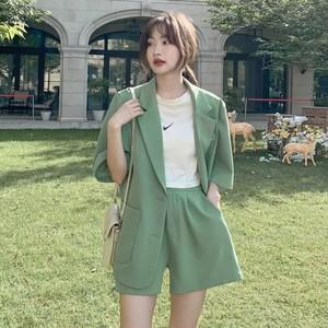 グリーンスーツジャケット+ショートパンツ S4160