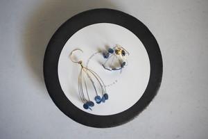 オカベマキコ pierce ロンドシリーズ(ぺたんこ)くすみブルー