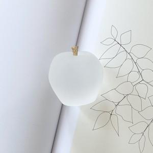 apple paper weight / アップル ペーパーウェイト オブジェ りんご ゴールド 半透明 文鎮 韓国 北欧 インテリア 雑貨