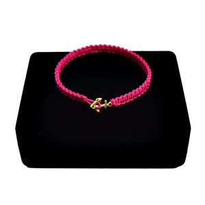 【無料ギフト包装/送料無料/限定】K18 Gold Anchor Bracelet / Anklet Pink【品番 17S2010】