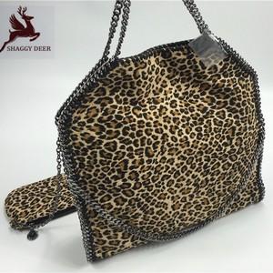 Leopard chain bag L-size