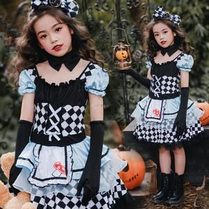 3557ハロウィン コスプレ衣装 コスチューム 仮装 キッズ 女の子 子供 衣装 ピエロ衣装