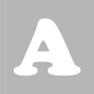 アルファベットA~Z(白、Mサイズ、H70mm)