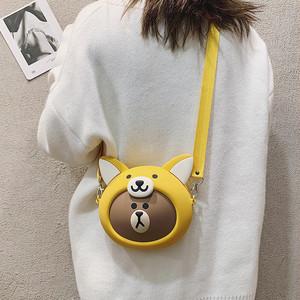 【バッグ】おもしろい新作ins大人気ブラウン熊カートゥーンショルダーバッグ