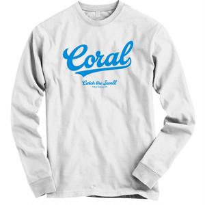 CORAL ロングTシャツ2018:ホワイト