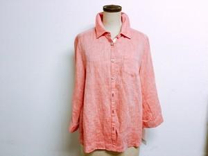 キレイめカラーシャツブラウス Lサイズ