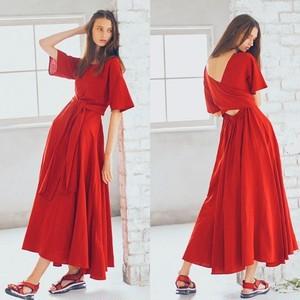 【AULA AILA】バックカシュクール ドレス